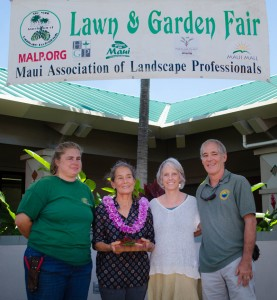 (L-R) Allison Wright, MALP; Masako Cordray; Teya Penniman, MISC; Rob Parsons, County of Maui. MISC file photo